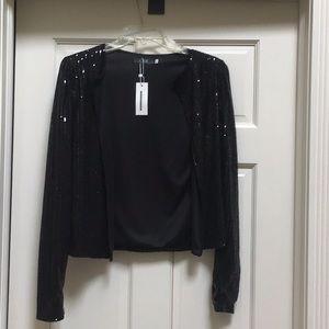 Black sequined jacket